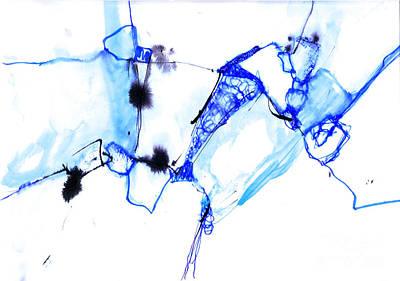 Minotaur Digital Art - Minotaur - Blue by Ana Goldberger