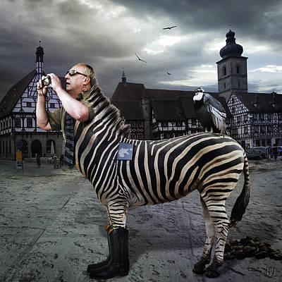 Minotaur Digital Art - Homozebranus Modernus by Nafets Nuarb