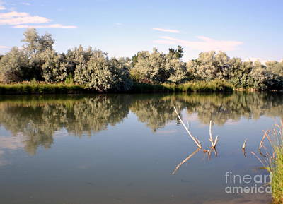 Thermopolis Photograph - Mirrored Stream by Roxann Whited