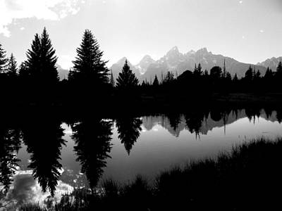 Mirrored Tetons Original by Jessica Duede