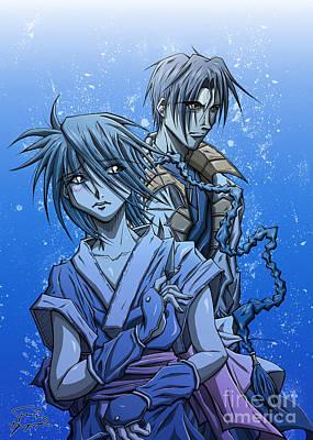 Tuan Drawing - Misao And Aoshi by Tuan HollaBack