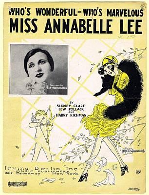 Annabelle Photograph - Miss Annabelle Lee by Mel Thompson