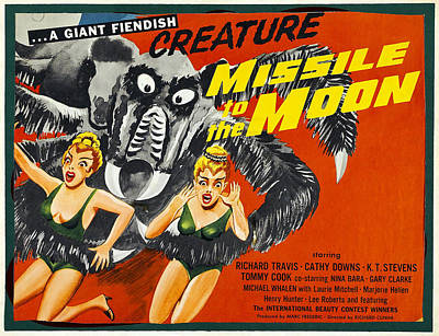 1950s Movies Photograph - Missile To The Moon, Half-sheet Poster by Everett