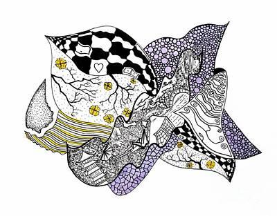 Tsuru Drawing - Missing You by Fla Arakaki