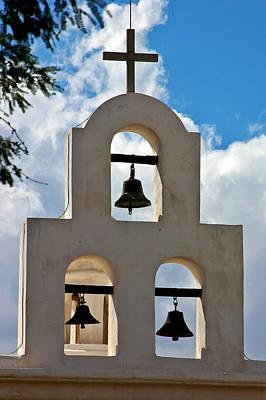 Mission Bells At San Xavier Mission Print by Jon Berghoff