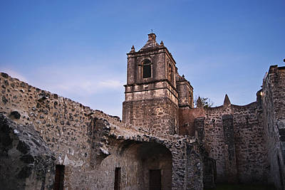 Social Mission Photograph - Mission Concepcion Courtyard by Melany Sarafis