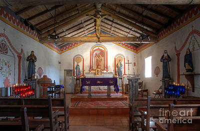 Mission San Antonio De Padua 3 Print by Bob Christopher