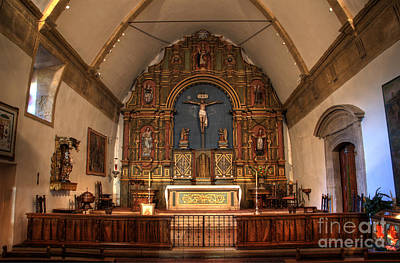 Mission San Carlos Borromeo De Carmelo  11 Print by Bob Christopher