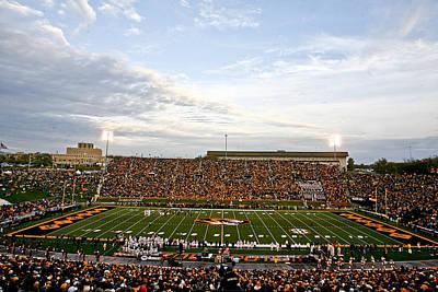 Missouri Memorial Stadium On Game Day Print by Replay Photos