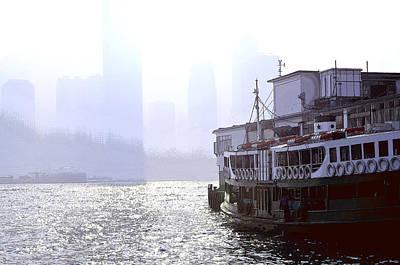 Tsui Photograph - Mist Over Victoria Harbour by Enrique Rueda