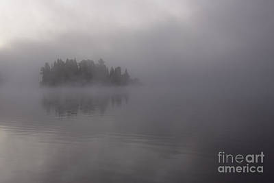 Misty Evergreen Island Print by Chris Hill