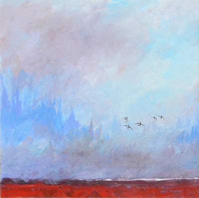 Painting - Misty Landing by David  Maynard