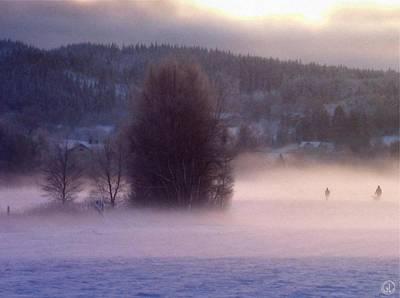 Winter Digital Art - Misty Morning 2 by Gun Legler