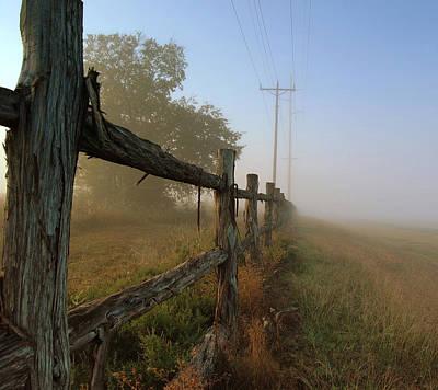 Misty Morning Print by Cindy Rubin