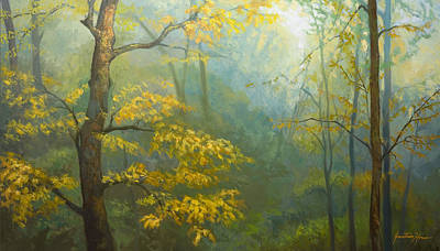 Painting - Misty Mountains by Jonathan Howe