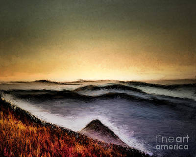 Misty Sunrise Print by Arne Hansen