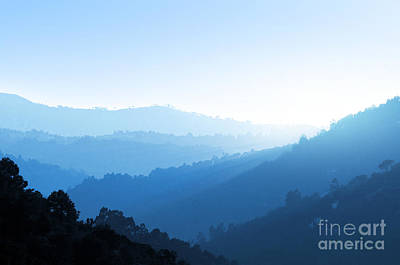 Misty Valley Print by Carlos Caetano