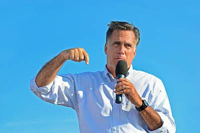 Mitt Romney Photograph - Mitt Romney by Maria Dryfhout