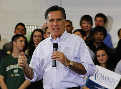 Mitt Romney Painting - Mitt Romney No. 1 by Robert SORENSEN