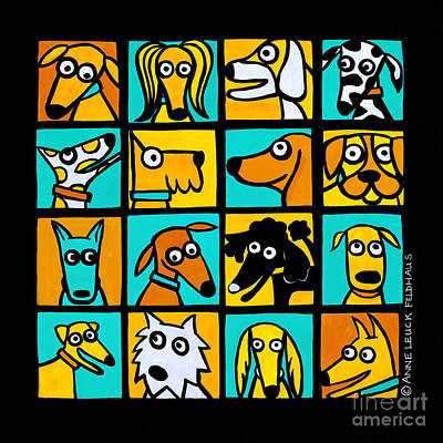 Mixed Breeds Print by Anne Leuck