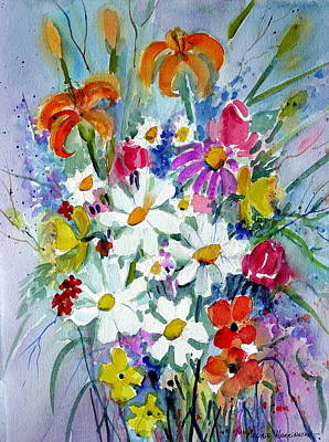 Mixed Floral  Print by Maurie Harrington
