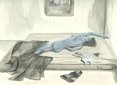 Mmm... Stretch... Print by Robert Meszaros
