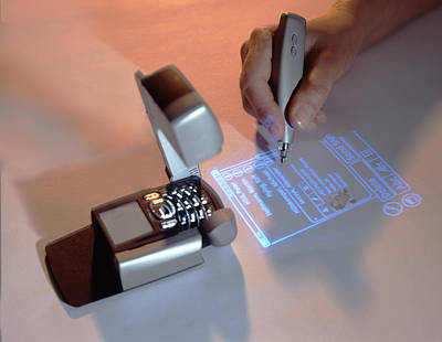 Keypad Photograph - Mobile Phone With Projector by Volker Steger