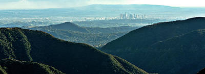Outlook Photograph - La From Twenty Miles Away by Gilbert Artiaga