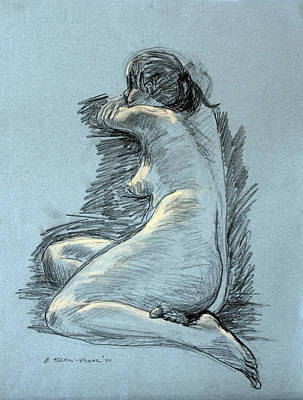 Model Resting Print by Ethel Vrana