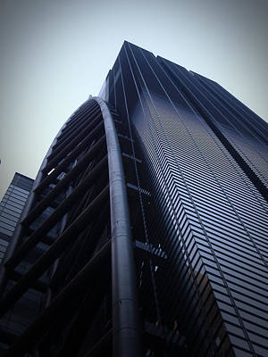 Subway Photograph - Modern Building In Tokyo by Naxart Studio