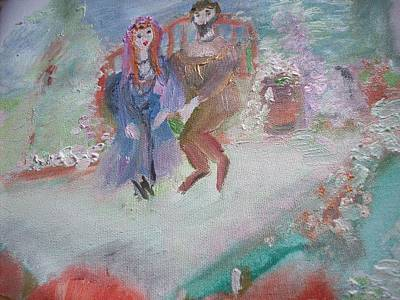 Mums Painting - Mom And Dad by Judith Desrosiers