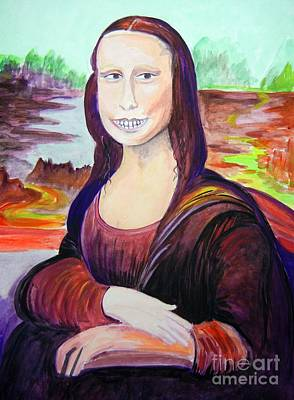 Mona's Other Smile Original by Reb Frost