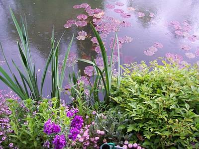 Monet Garden Giverny France Print by Chitra Ramanathan