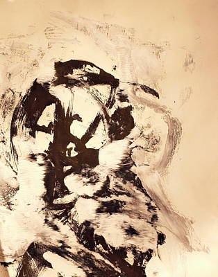 One Stroke Painting - Monoprint Portrait 1 by JC Armbruster