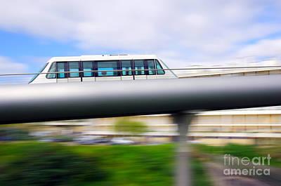 Monorail Carriage Print by Carlos Caetano
