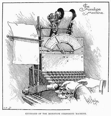 Monotype Machine, 1897 Print by Granger
