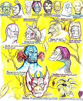 Genealogy Drawing - Monster Genealogy by Jamie Jonas