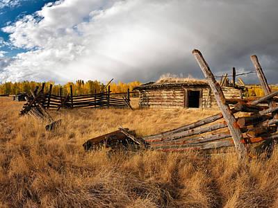 Montana History Print by Leland D Howard