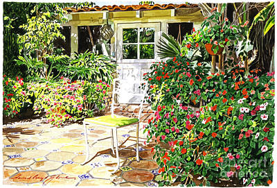 Monterey Guest House Print by David Lloyd Glover