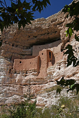 Montezuma Castle Cliff Dwellings In The Verde Valley Of Arizona Print by Elizabeth Rose