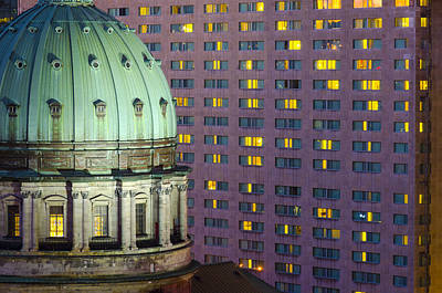 Montreal Landmarks Photograph - Montreal, Cathedral Mary Queen Of The World by Alan Copson