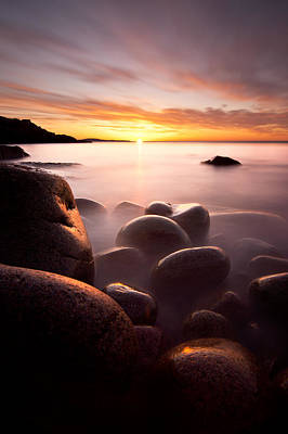 Monument Cove Acadia Print by Chad Tracy