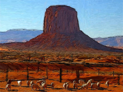 Monument Valley 2 Pastel Print by Stefan Kuhn