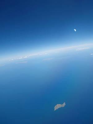 Eleonora Photograph - Moon Above A Greek Island by Detlev Van Ravenswaay