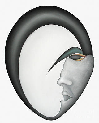 Curvilinear Painting - Moon Brother by Joanna Pregon