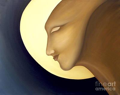Curvilinear Painting - Moon Diva by Joanna Pregon
