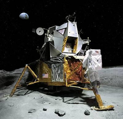 Moon Landing, 21 July 1969 Print by Detlev Van Ravenswaay