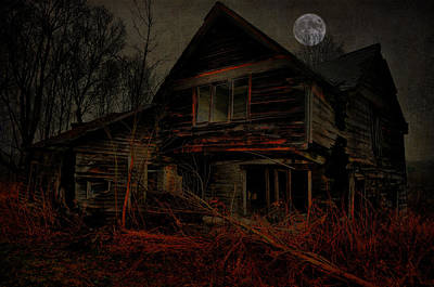 Abandoned Photograph - Moon Of Old by Emily Stauring