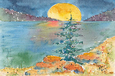 Moon On The Water Original by Pat Katz