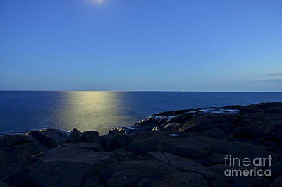 Lake Superior Art Gallery Photograph - Moonbeam Walks On Water by Whispering Feather Gallery